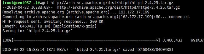 wget命令下载程序包