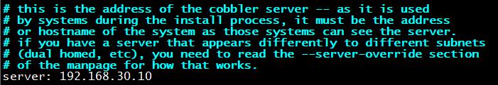 指定cobbler服务器