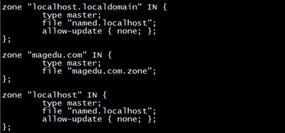 区域配置文件